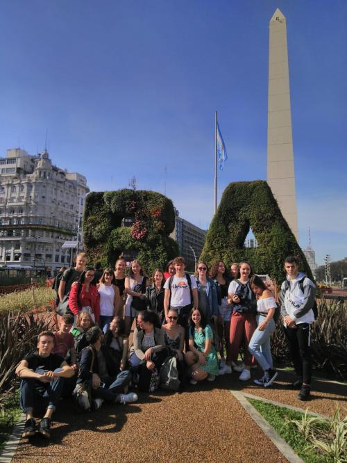lycéens à Buenos Aires