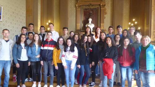 De jeunes galiciens au lycée Charles de Gaulle