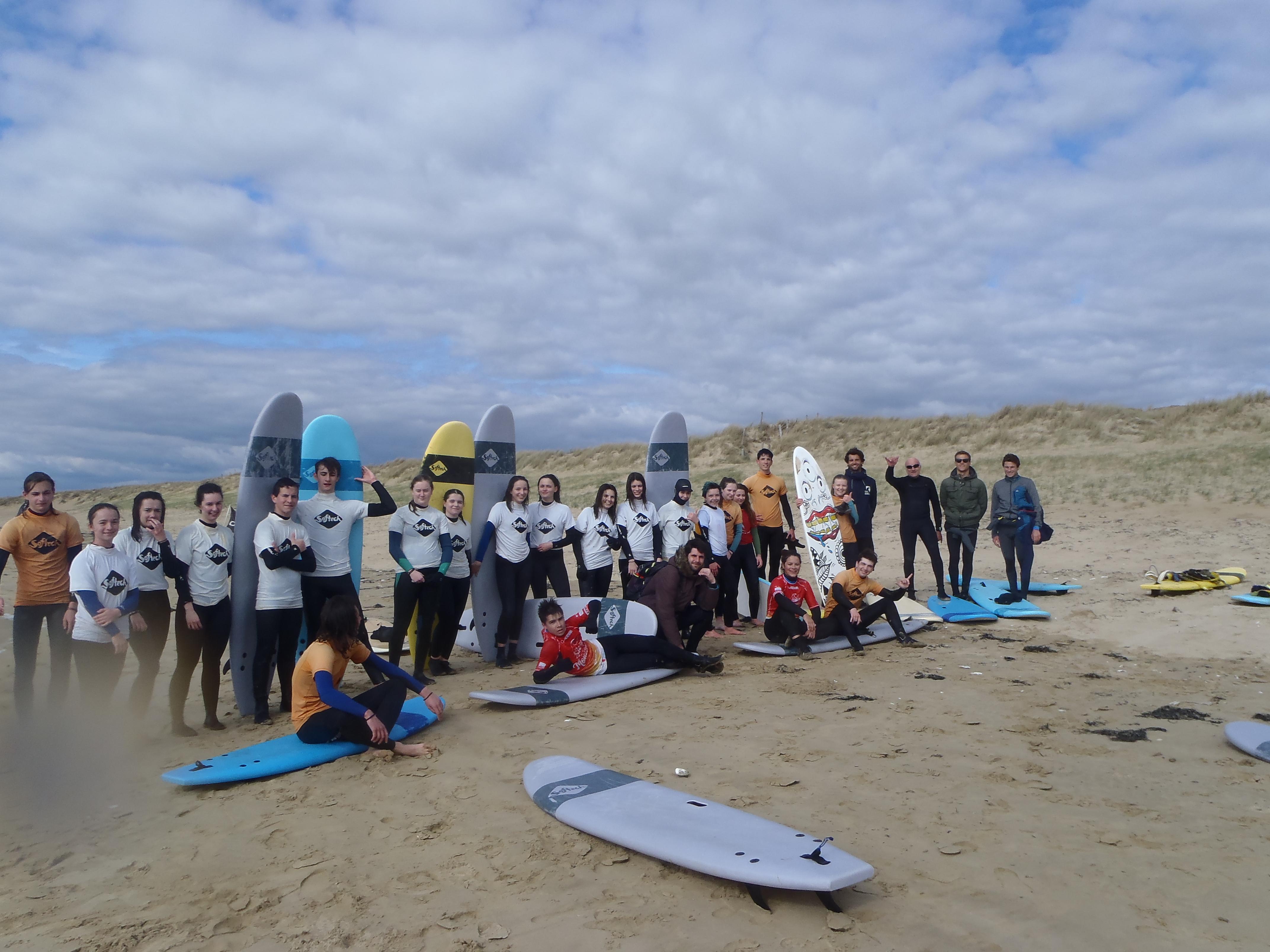 le groupe Surf du lycée