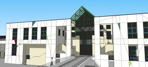 Future façade lycée Charles-de-Gaulle - Vannes
