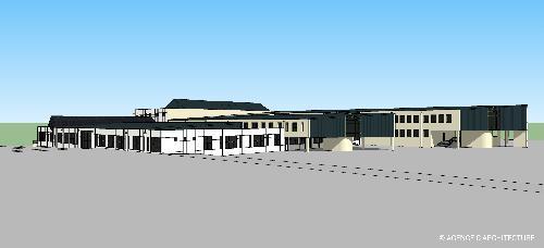 Future façade du lycée