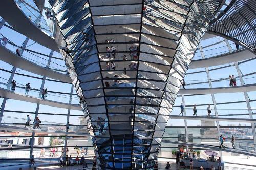Coupole en verre du Reichstag